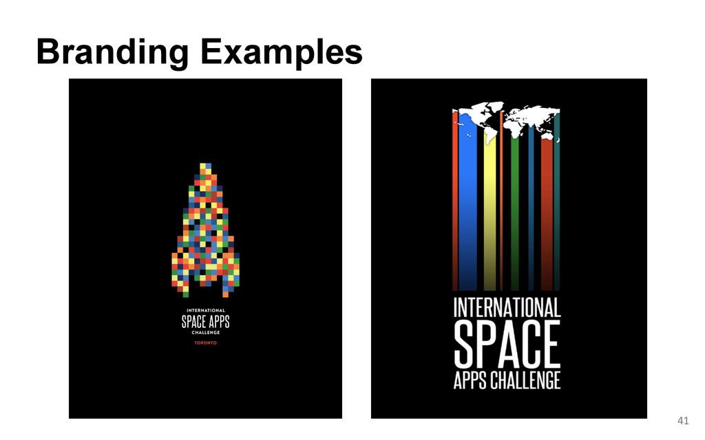 Branding Examples  41