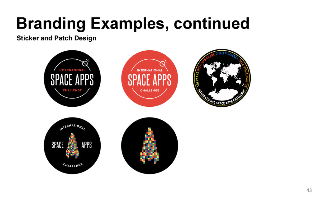 Branding Examples, continued  Sticker and Pa...