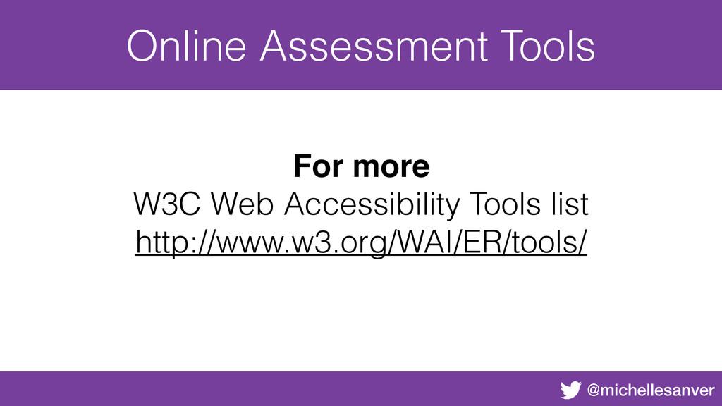 @michellesanver Online Assessment Tools For mor...