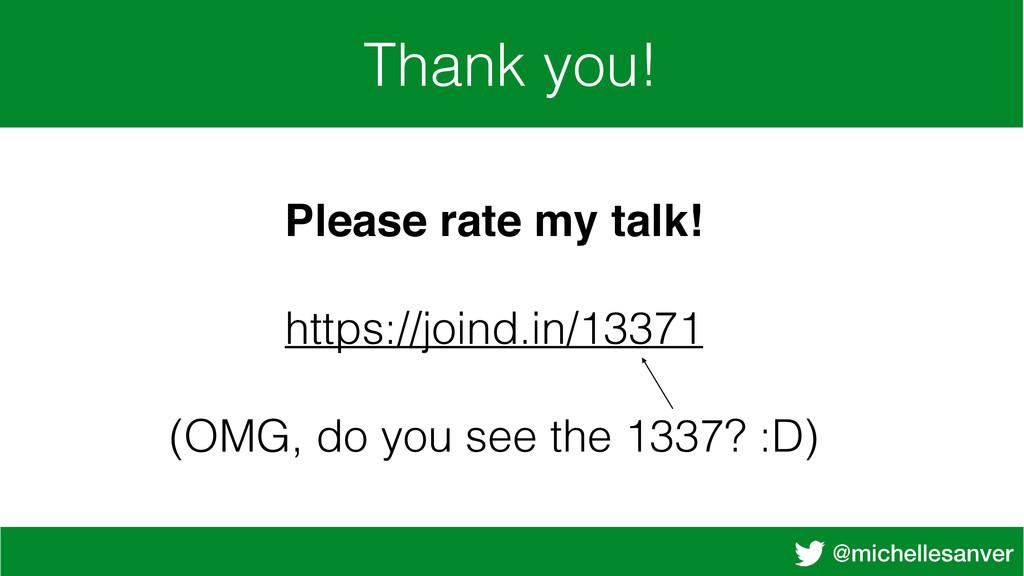 @michellesanver Thank you! Please rate my talk!...