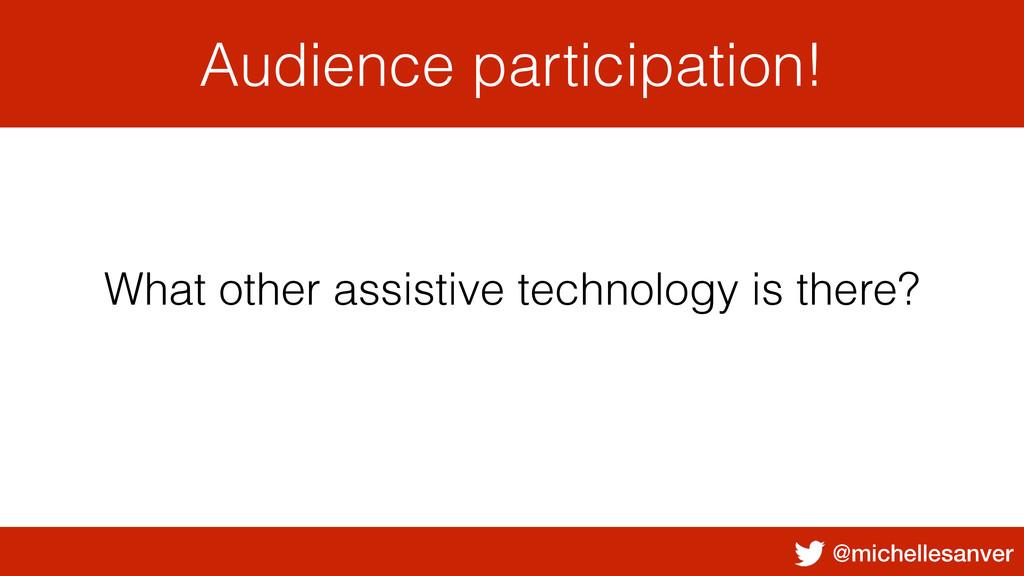 @michellesanver Audience participation! What ot...
