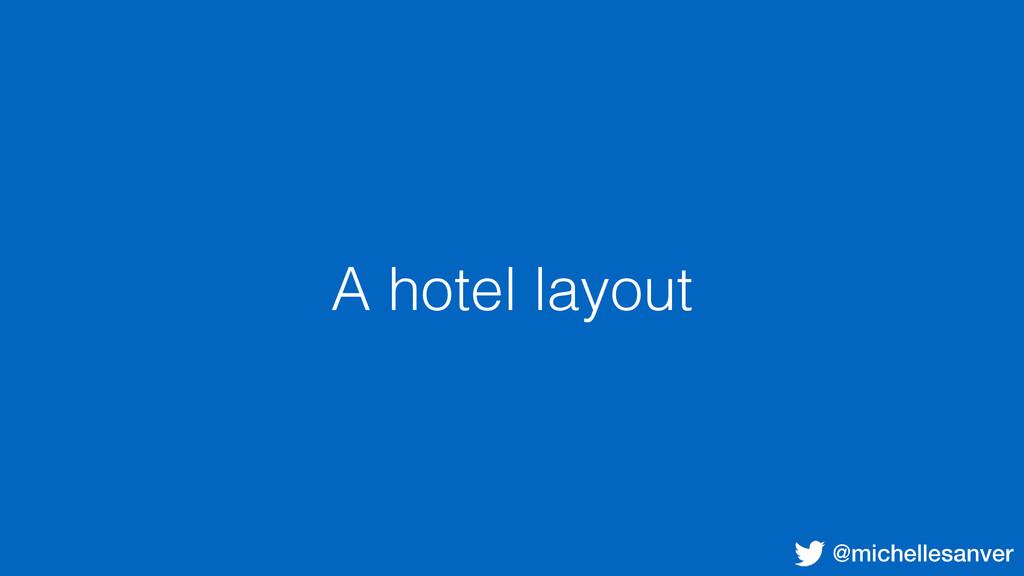 @michellesanver A hotel layout