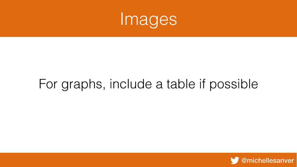 @michellesanver Images For graphs, include a ta...