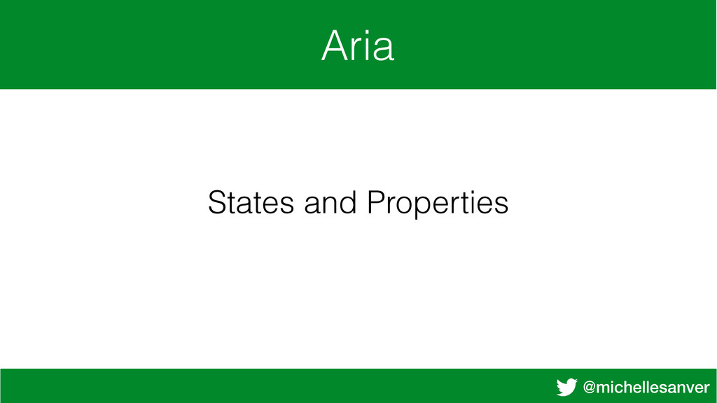 @michellesanver Aria States and Properties