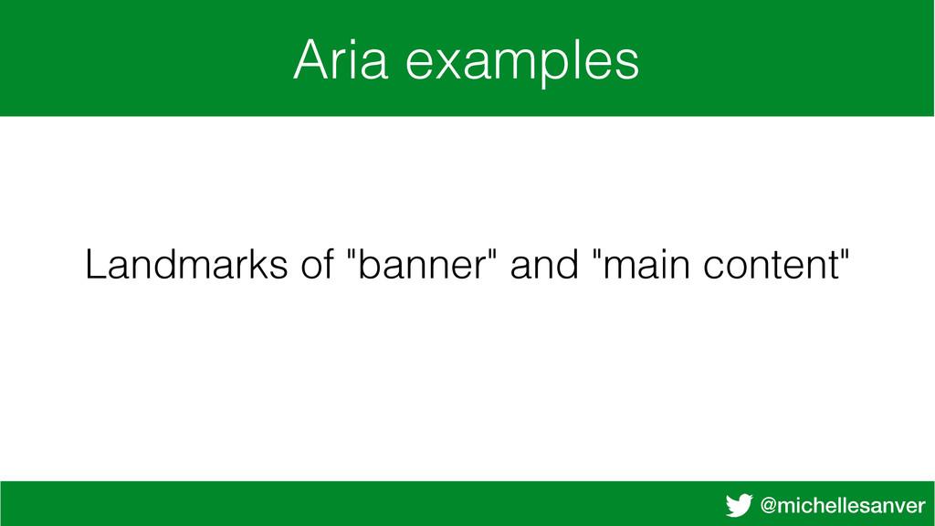 "@michellesanver Aria examples Landmarks of ""ban..."