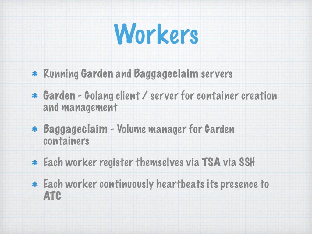 Workers Running Garden and Baggageclaim servers...