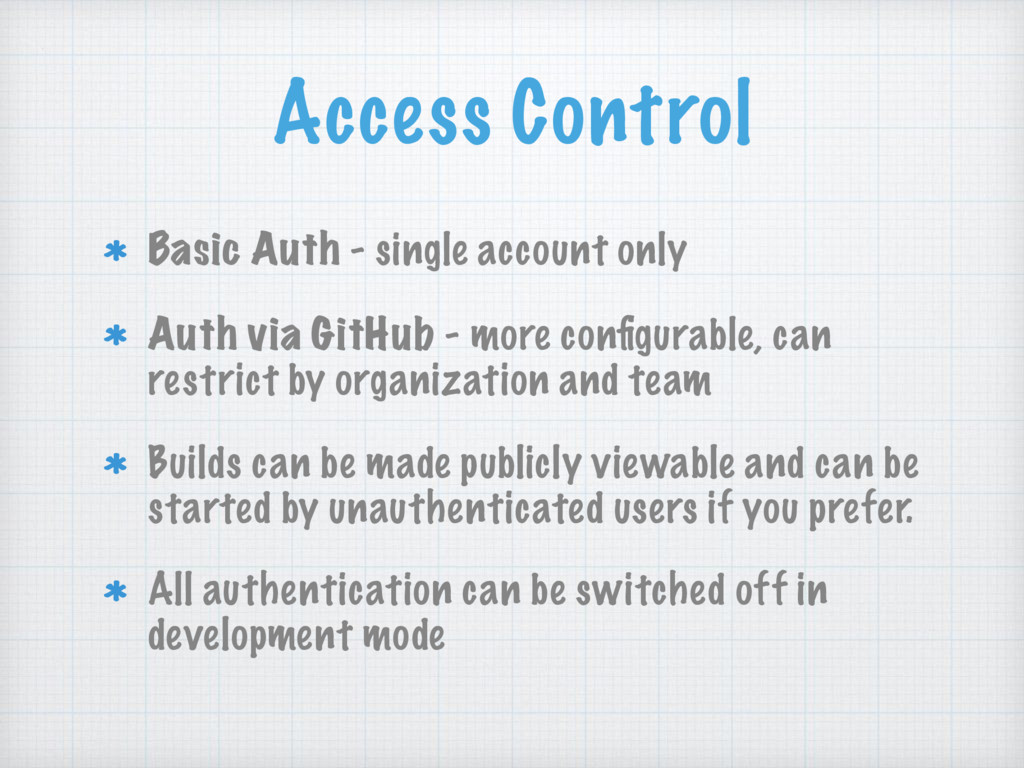 Access Control Basic Auth - single account only...