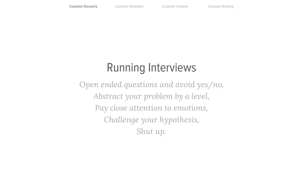 Running Interviews Open ended questions and avo...