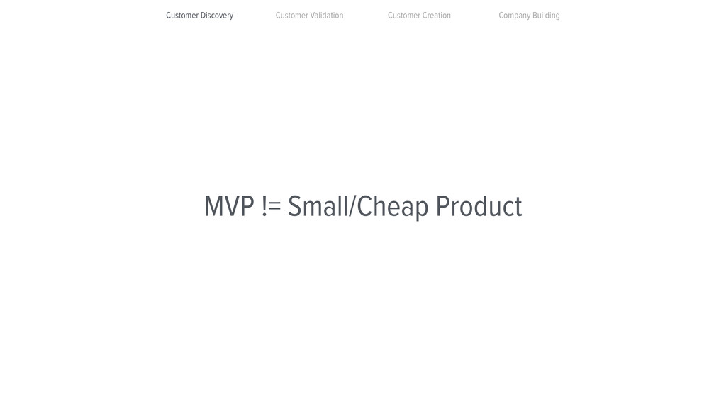 MVP != Small/Cheap Product Customer Discovery C...
