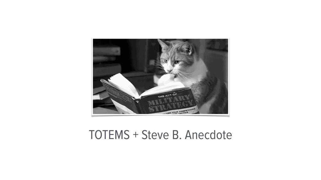 TOTEMS + Steve B. Anecdote