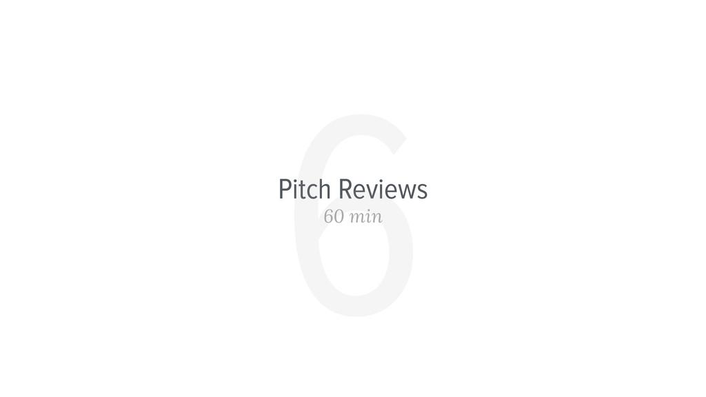 Pitch Reviews 60 min 6