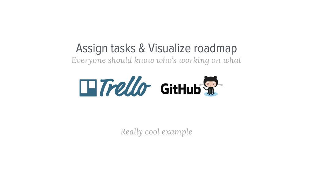 Assign tasks & Visualize roadmap Everyone shoul...