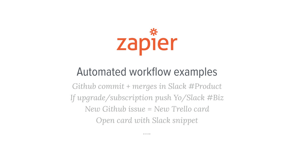 Automated workflow examples Github commit + merg...