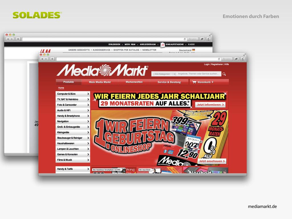 Emotionen durch Farben mediamarkt.de