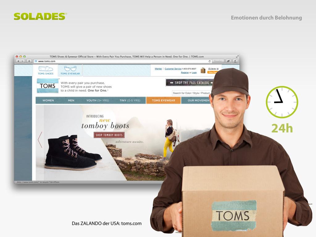 Das ZALANDO der USA: toms.com 24h Emotionen dur...