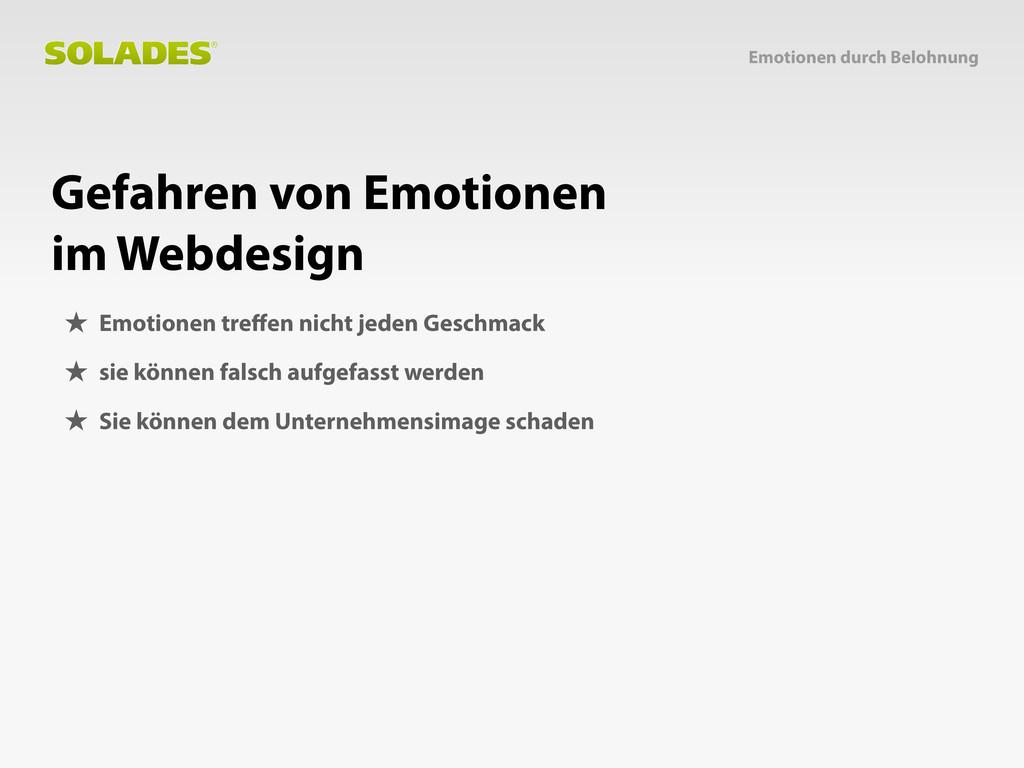 Gefahren von Emotionen im Webdesign Emotionen d...