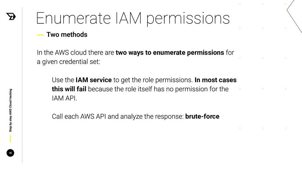 two ways to enumerate permissions IAM service I...