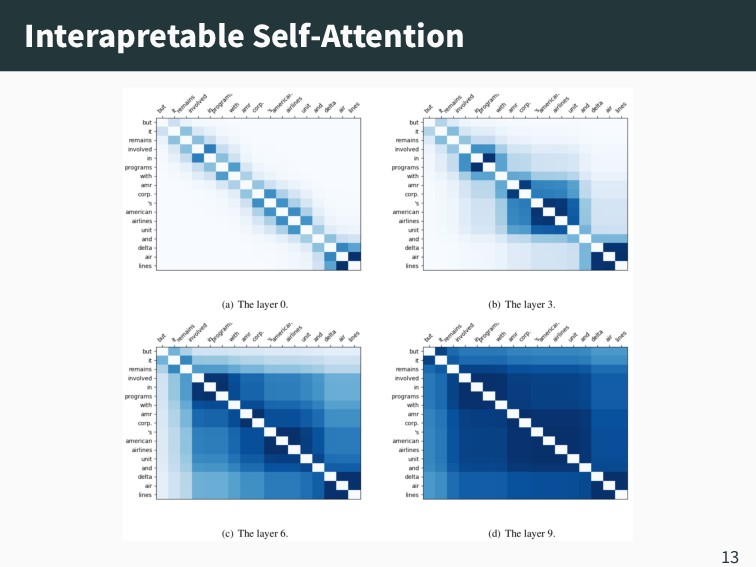 Interapretable Self‑Attention 13