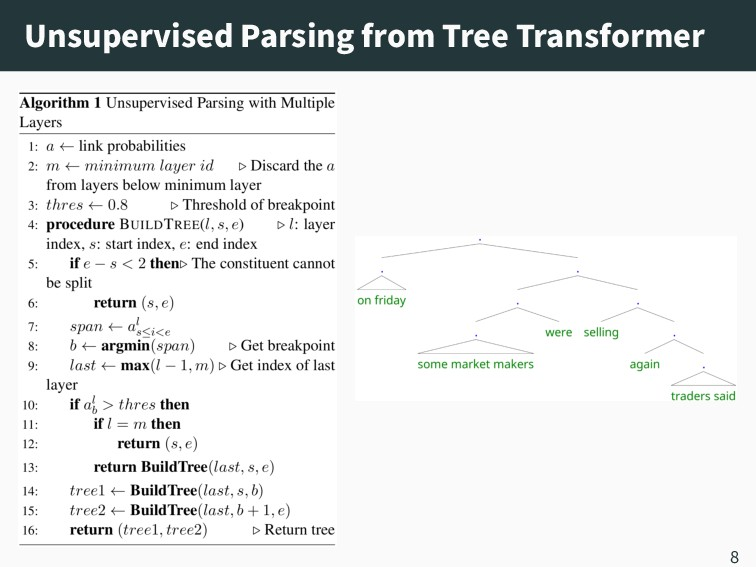 Unsupervised Parsing from Tree Transformer 8
