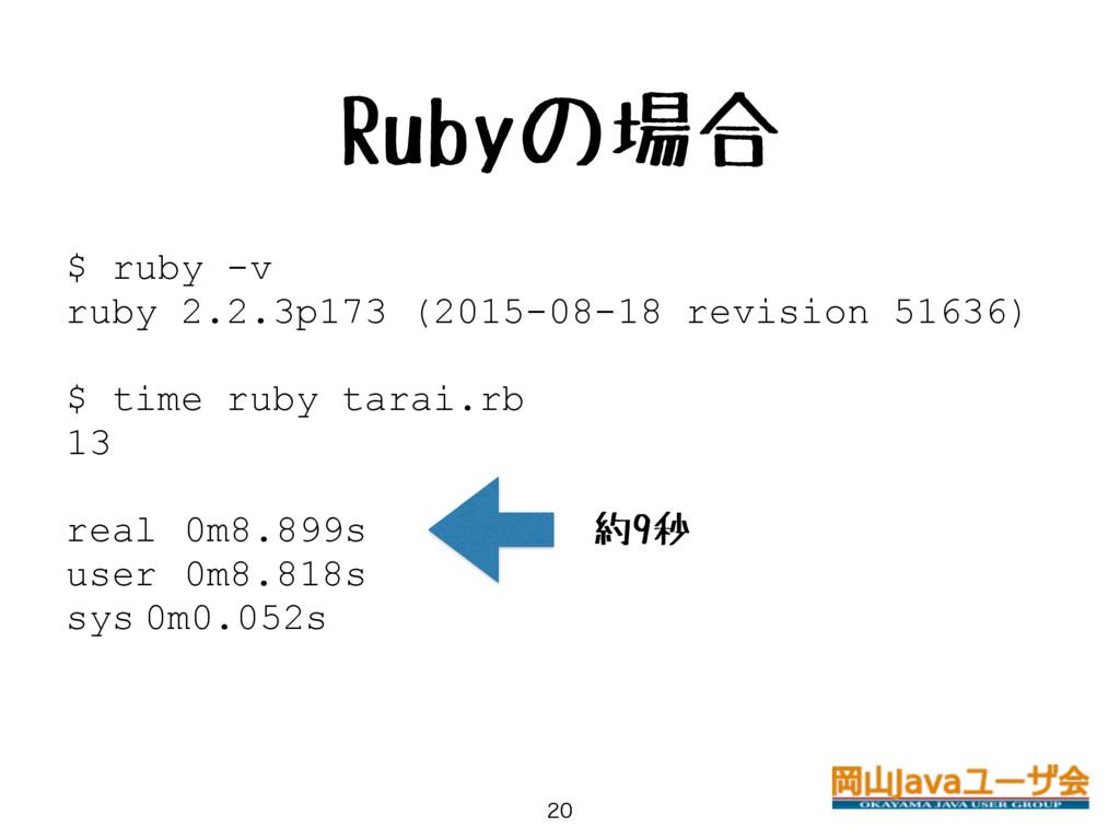 Rubyの場合  $ ruby -v ruby 2.2.3p173 (2015-08-18...