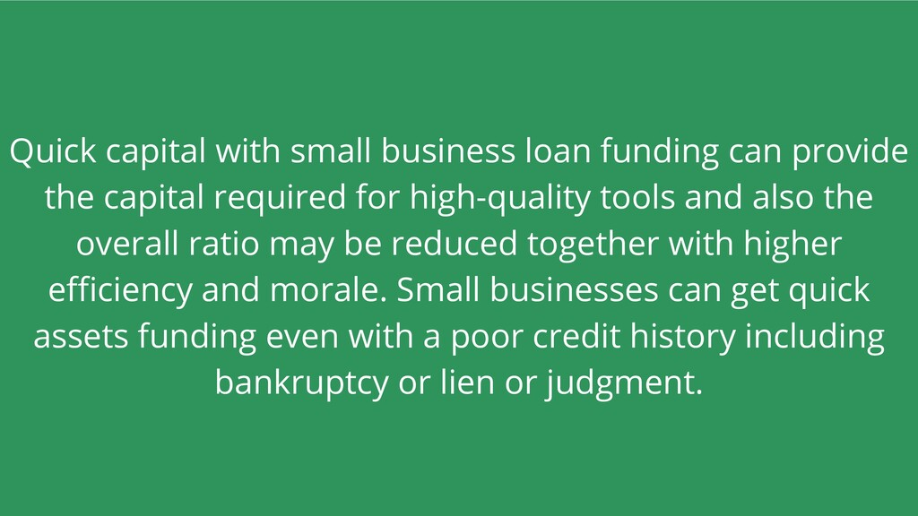 Quick capital with small business loan funding ...