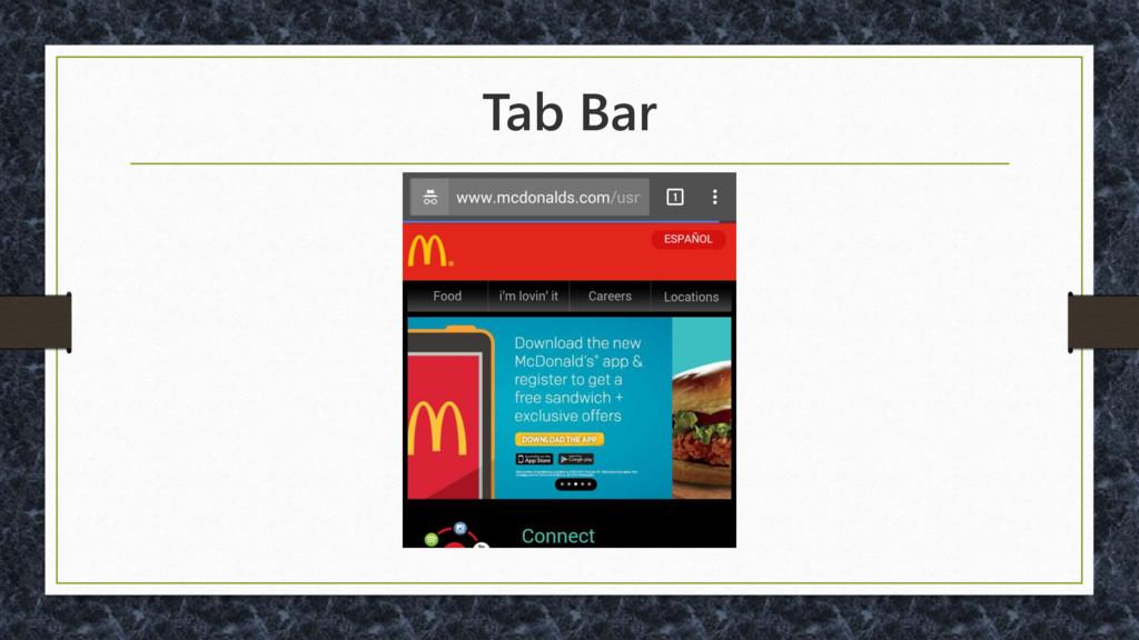 Tab Bar