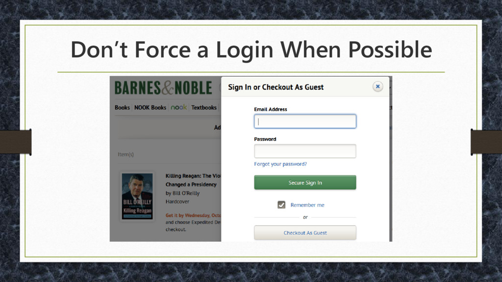Don't Force a Login When Possible