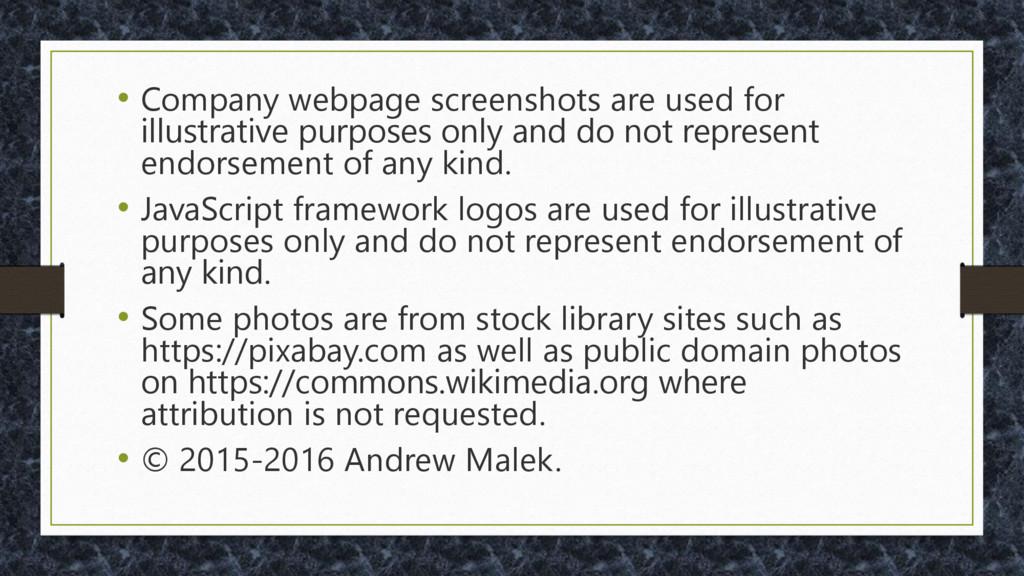 • Company webpage screenshots are used for illu...