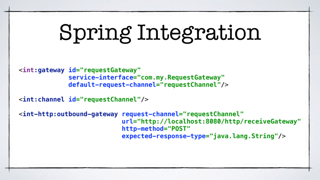 "Spring Integration <int:gateway id=""requestGate..."