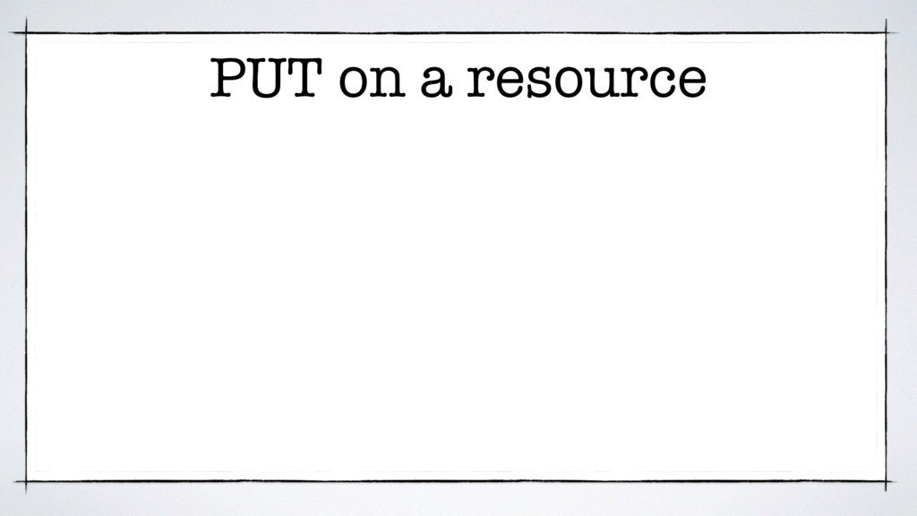PUT on a resource