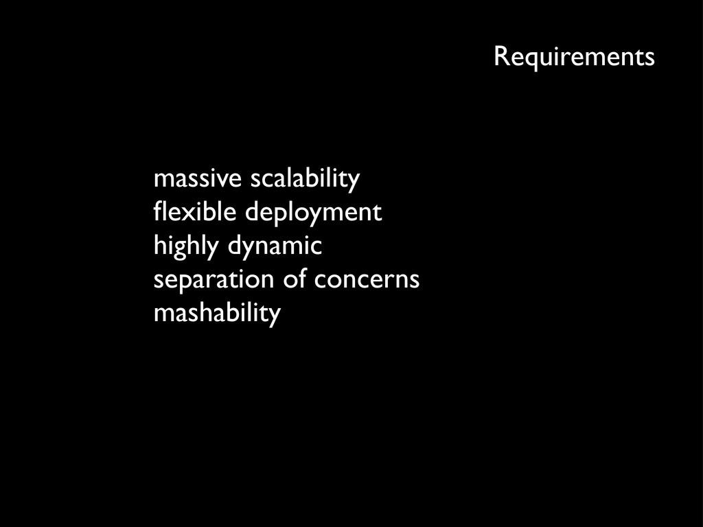 Requirements massive scalability flexible deploy...