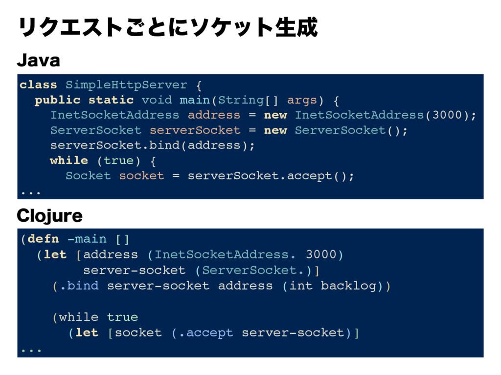 +BWB $MPKVSF (defn -main [] (let [address (Inet...