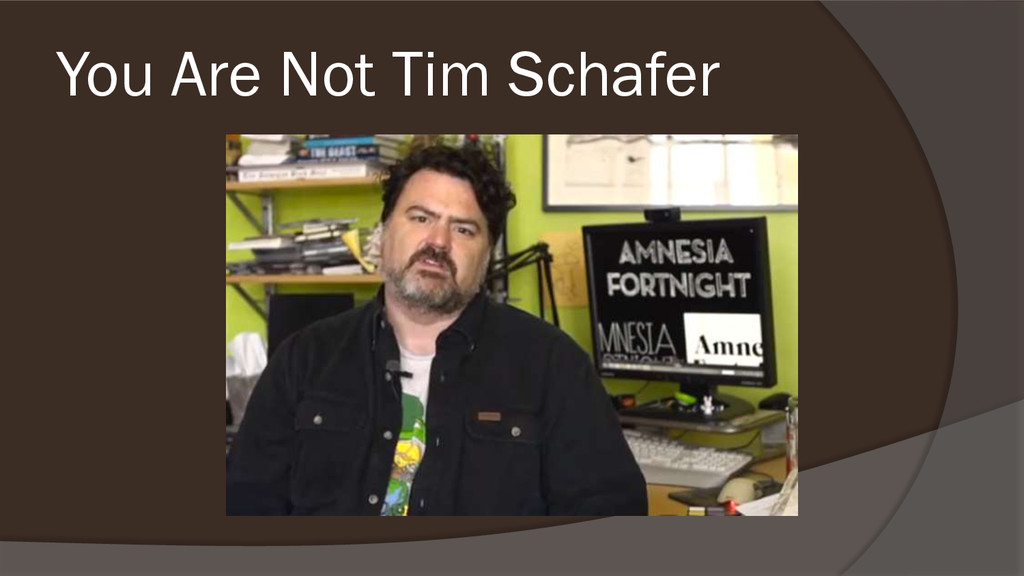 You Are Not Tim Schafer