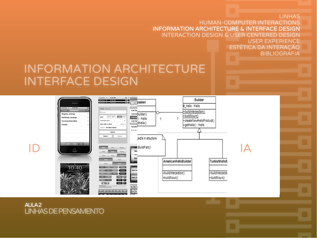 INFORMATION ARCHITECTURE AULA 2 LINHAS DE PENSA...