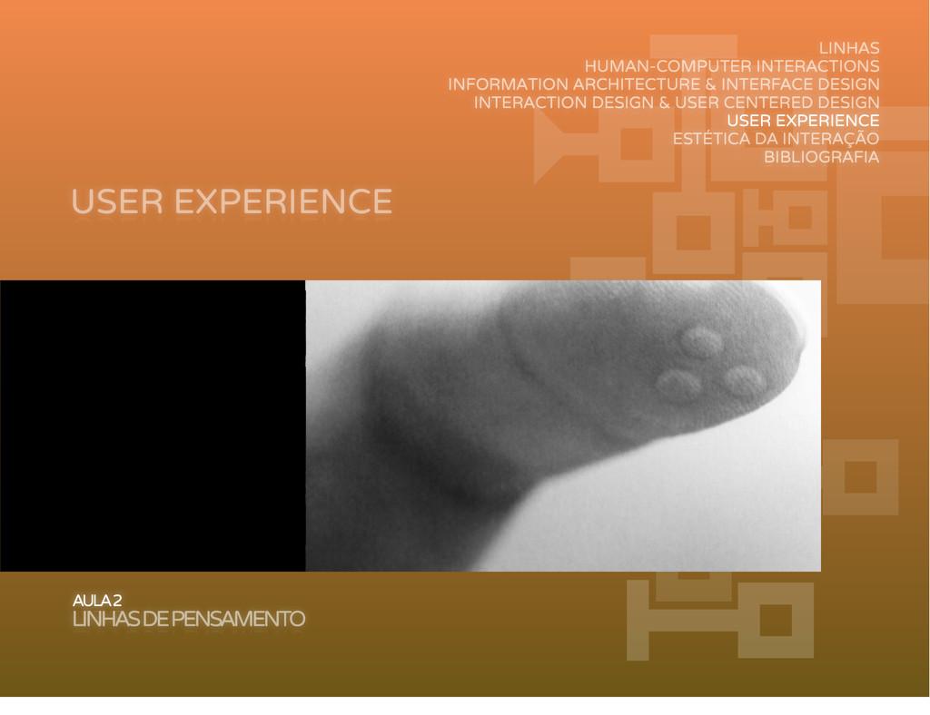 USER EXPERIENCE AULA 2 LINHAS DE PENSAMENTO LIN...