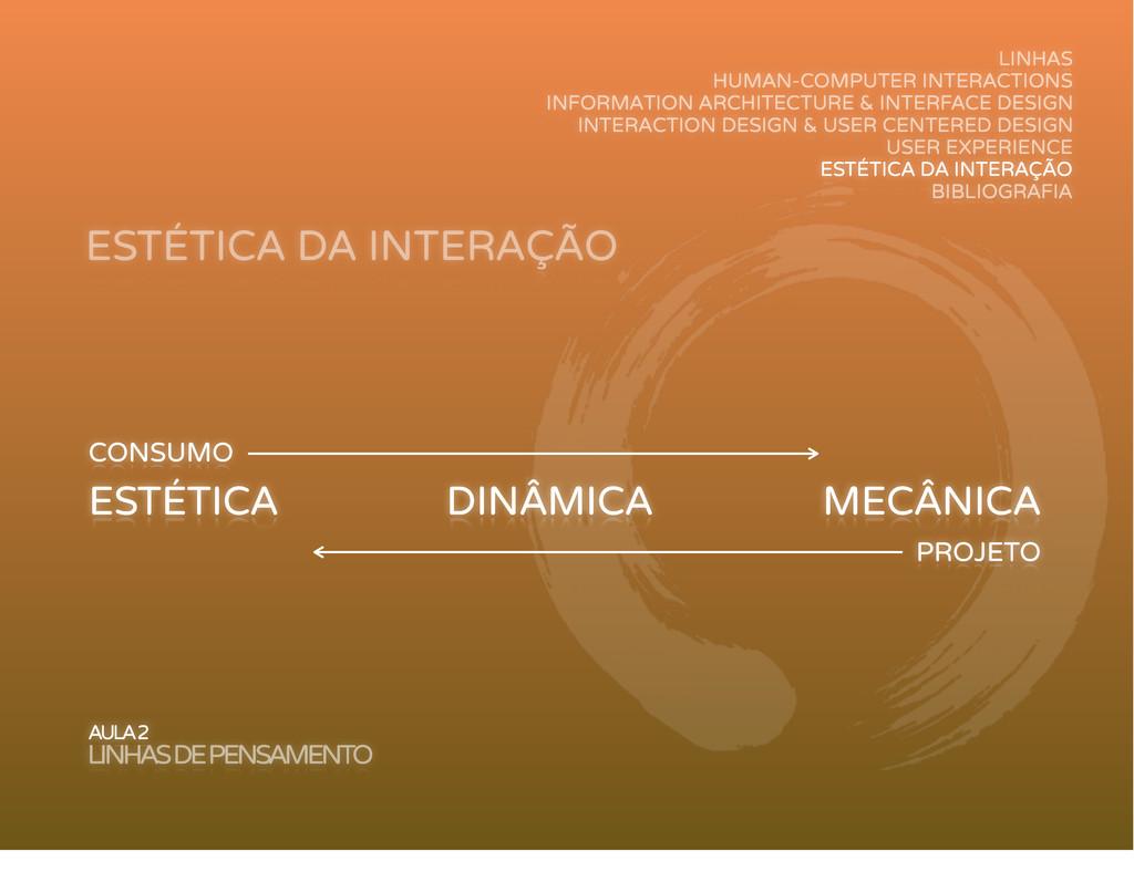 ESTÉTICA DA INTERAÇÃO AULA 2 LINHAS DE PENSAMEN...