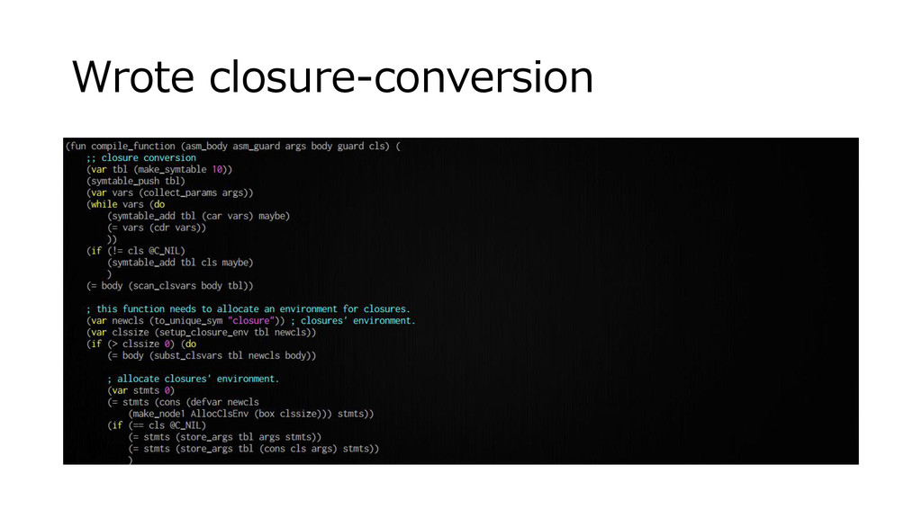 Wrote closure-conversion