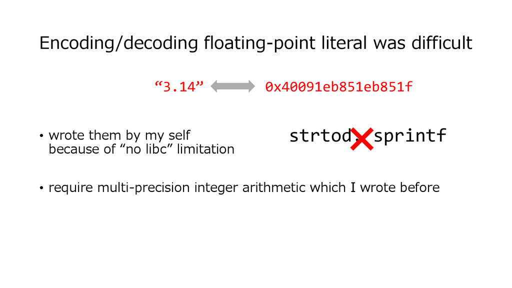 Encoding/decoding floating-point literal was di...