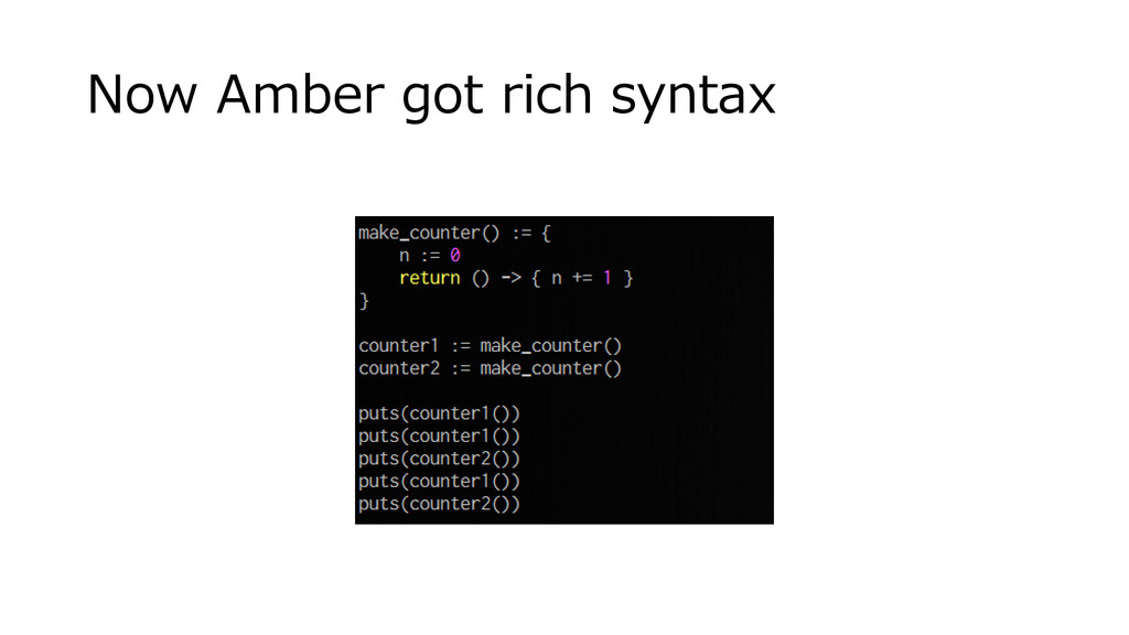 Now Amber got rich syntax