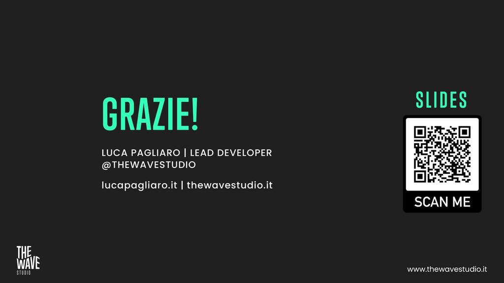 LUCA PAGLIARO | LEAD DEVELOPER @THEWAVESTUDIO l...