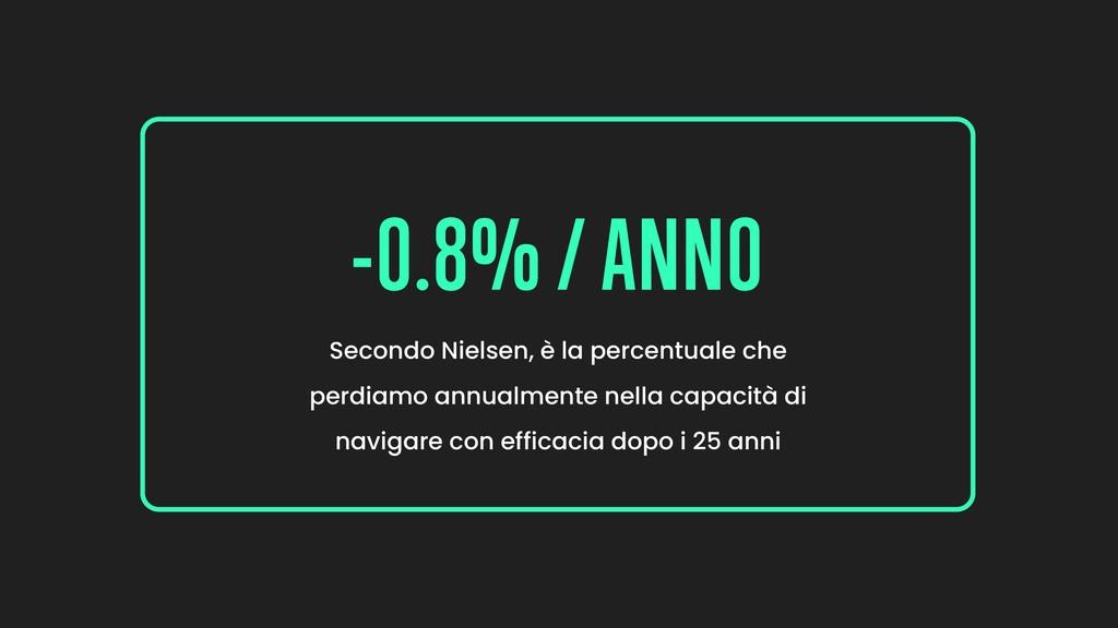 -0.8% / ANNO Secondo Nielsen, è la percentuale ...