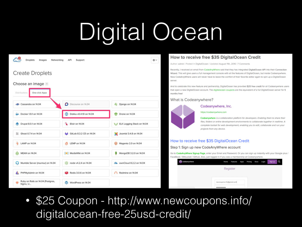 Digital Ocean • $25 Coupon - http://www.newcoup...
