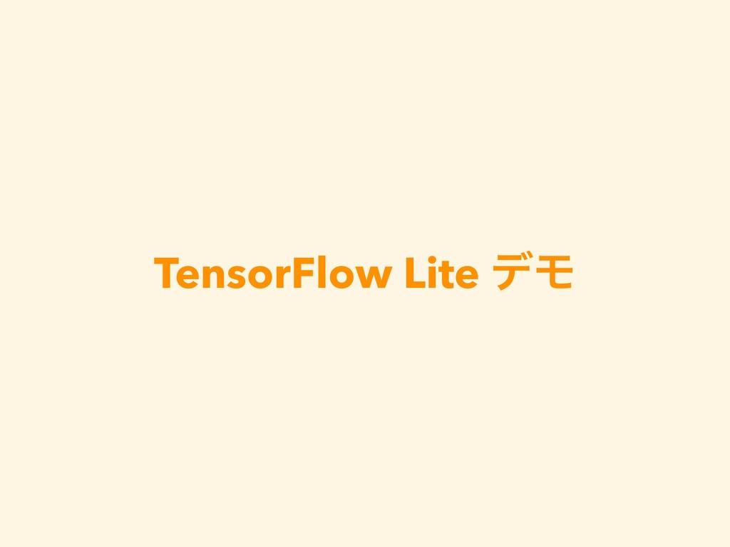 TensorFlow Lite σϞ