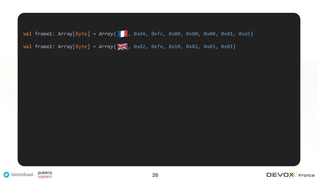 loicmdivad val frame1: Array[Byte] = Array( , 0...