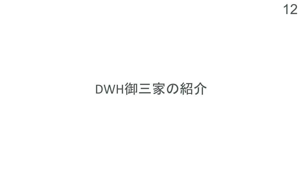 12 DWH御三家の紹介