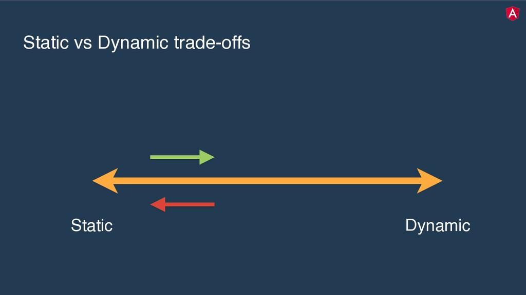 Static vs Dynamic trade-offs Static Dynamic