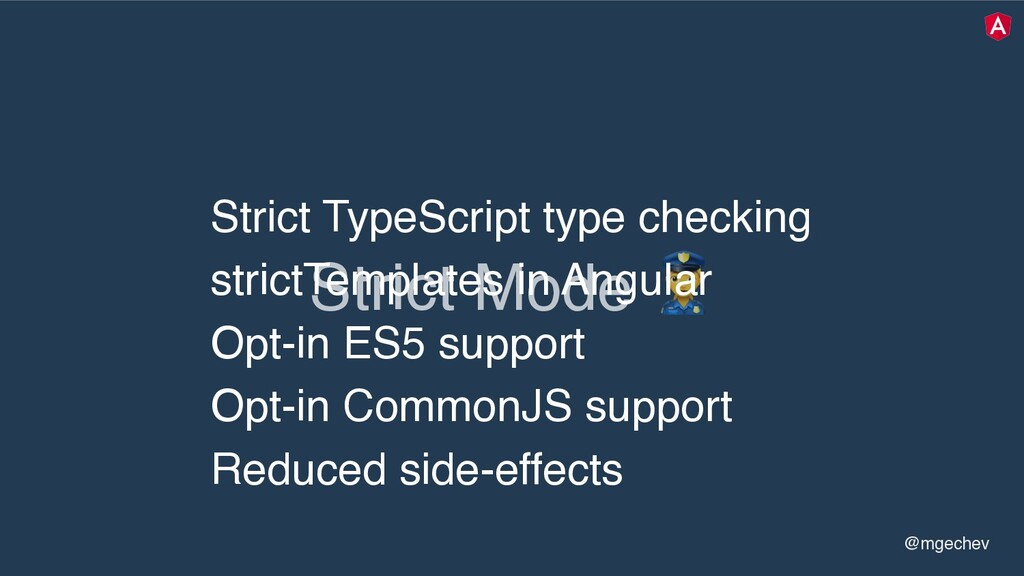 "@mgechev Strict Mode "" Strict TypeScript type c..."