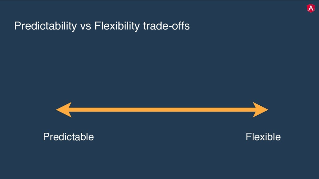 Predictability vs Flexibility trade-offs Predic...