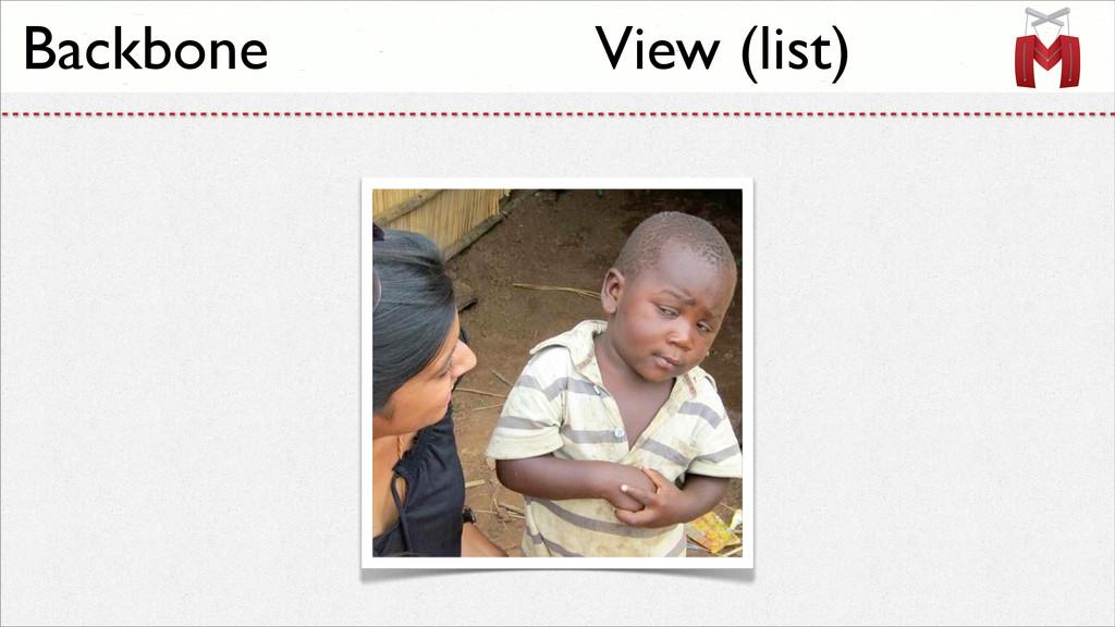 Backbone View (list)