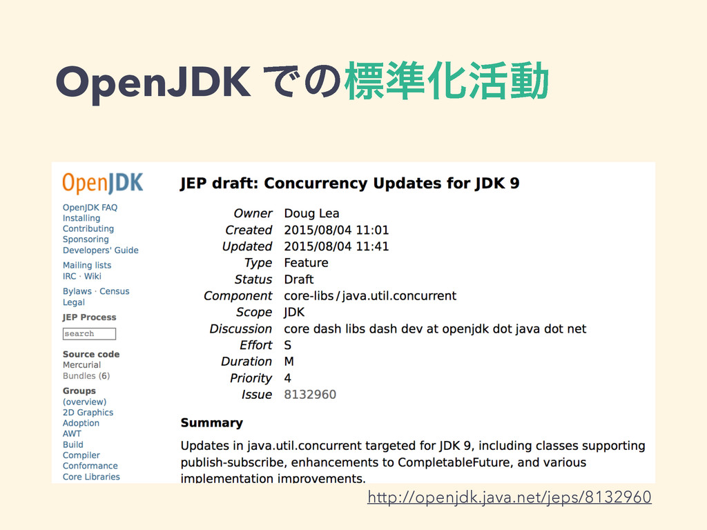 OpenJDK Ͱͷඪ४Խ׆ಈ http://openjdk.java.net/jeps/81...